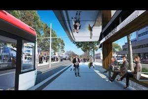 Uno de los bocetos del tranvía de Canberra. Foto: Capital Metro agency.