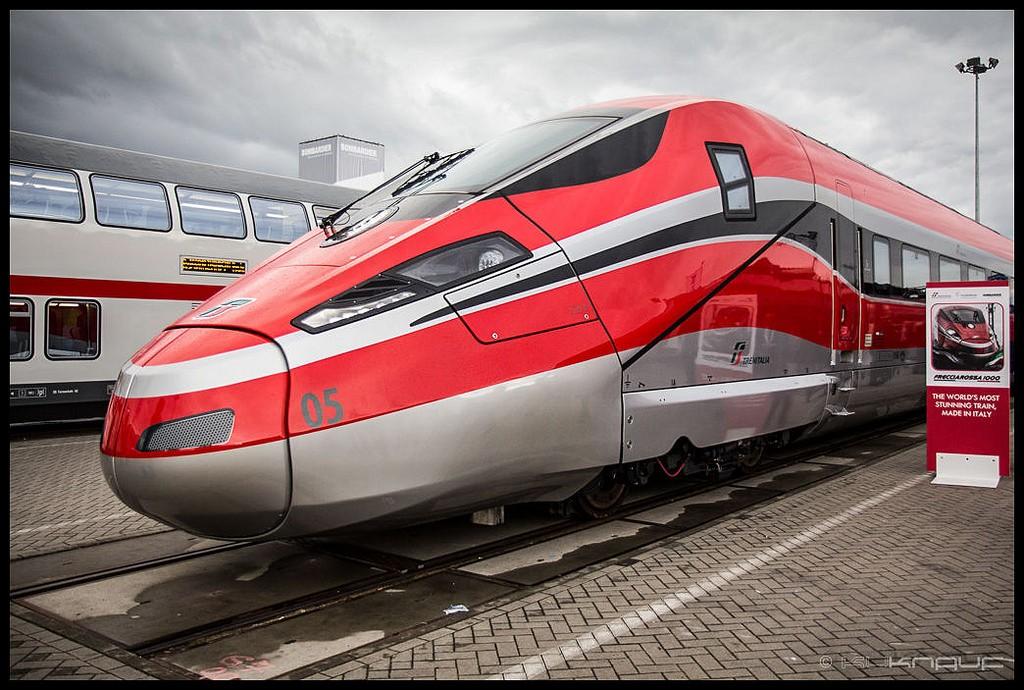 Los V300 Zefiro de Bombardier, ya adquiridos por Trenitalia, son la gran baza de la empresa canadiense en las licitaciones de alta velocidad europeas. Foto: Kuknauf.