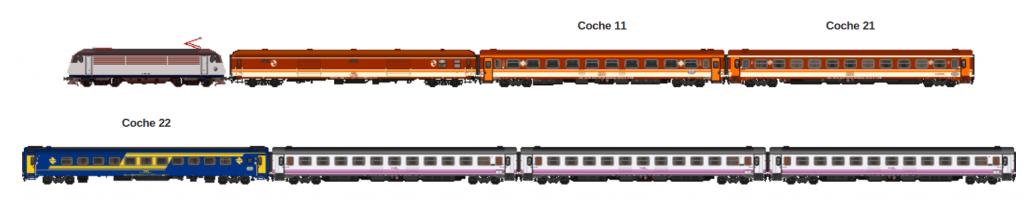 Esquema del Tren de las gachas 2015 publicado por la AAFM.