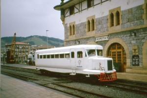 Uno de los automotores de Michelin de Madagascar en Azpeitia. Foto: Historias del tren.