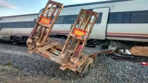 Imagen del accidente del tren siniestrado en Ciudad Real. Foto: JMGV-Bomberos