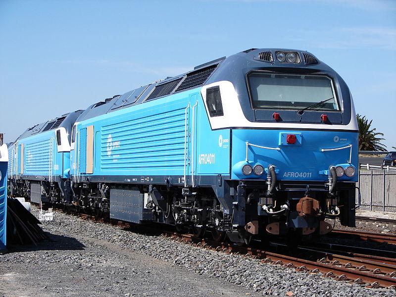 Las Euro4000 de Vossloh España (Afro4000 para Prasa) son incompatibles con la red sudafricana. Foto: André Kritzinger.