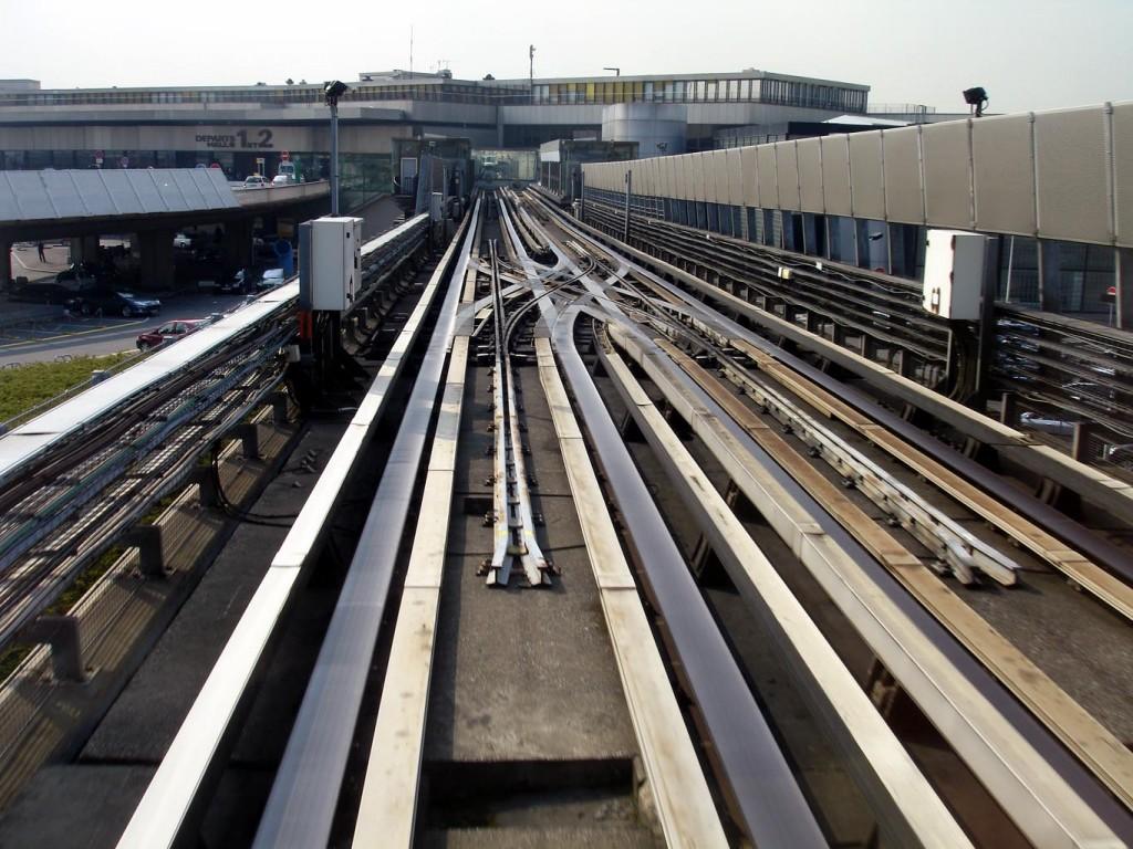 Cambio de agujas en el VAL del aeropuerto de Orly, París. Foto: Clicsouris.