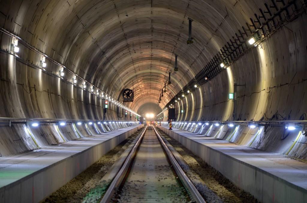 Imagen del interior del túnel de Hallandsås. Foto: Trafikverket.