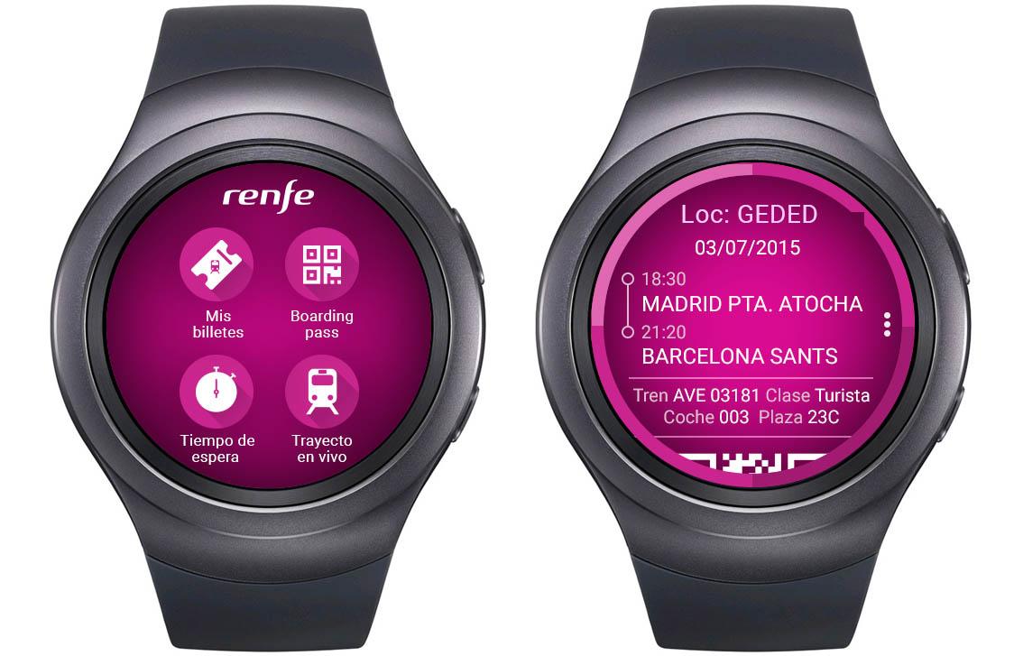 Como se ve en la imagen, los usuarios de la versión smartwatch de RenfeTicket pueden acceder a toda la información necesaria sobre su billete. Foto: TecnoAffinity.