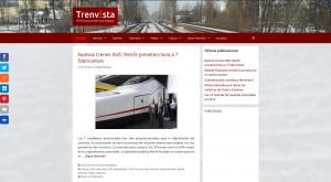 Nuevo diseño de la web de Trenvista