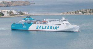 El Ferry Martin i Soler en el puerto de Ibiza. Foto: Jose Antonio Moreno Monge.
