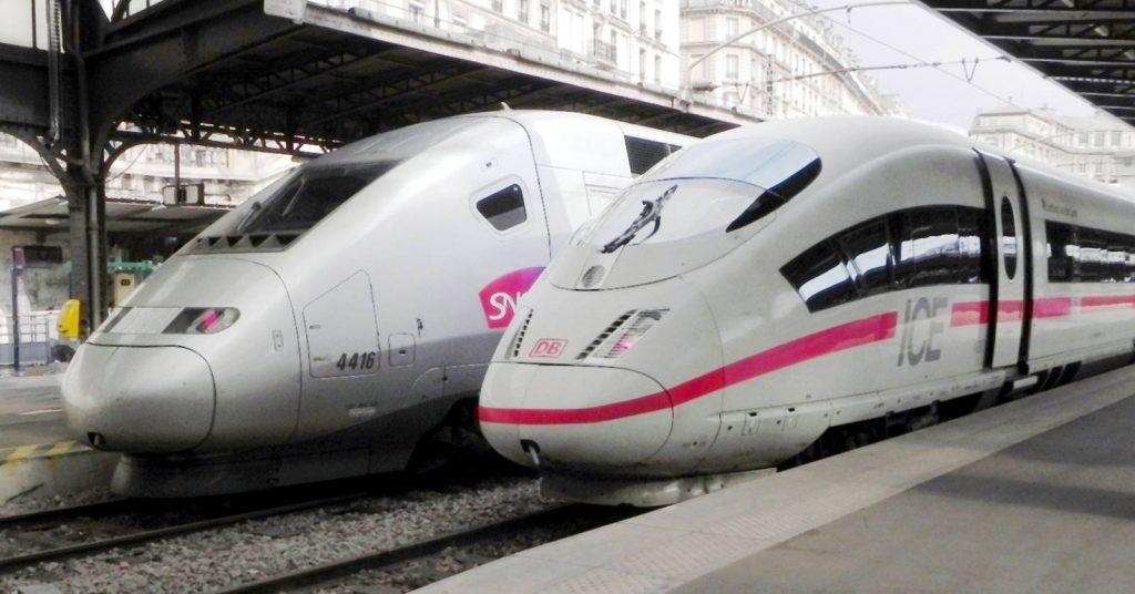 En poco tiempo veremos un ICE de la DB junto a un inOui de la SNCF en la estación del Este de París. Foto: CellarDoor85.