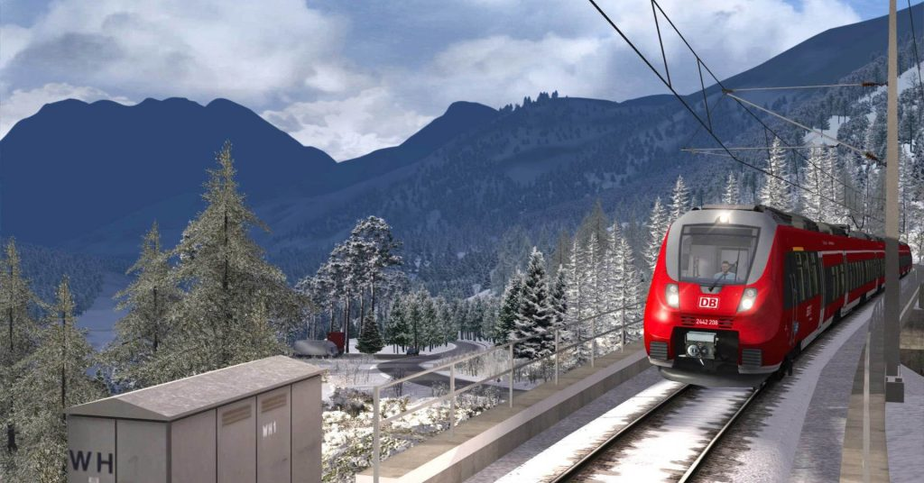 Captura de pantalla del Train SImulator 2018. © Dovetail games