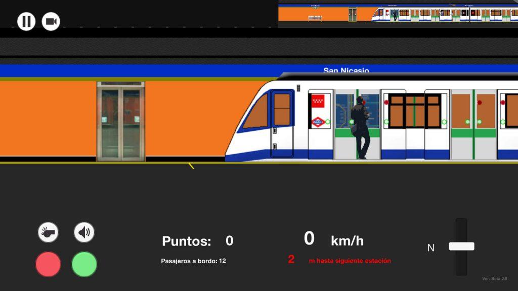 Captura de pantalla de Metro Madrid 2D Simulator, el primer simulador del metro de Madrid