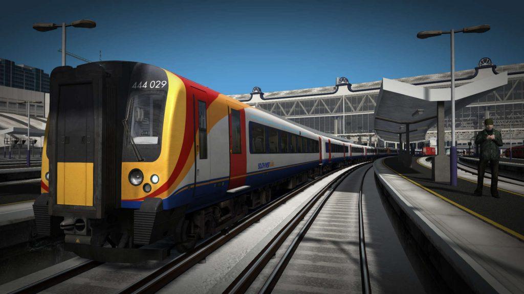 La misma toma, pero con el modo viñeta ya disponible en Train Simulator 2020.