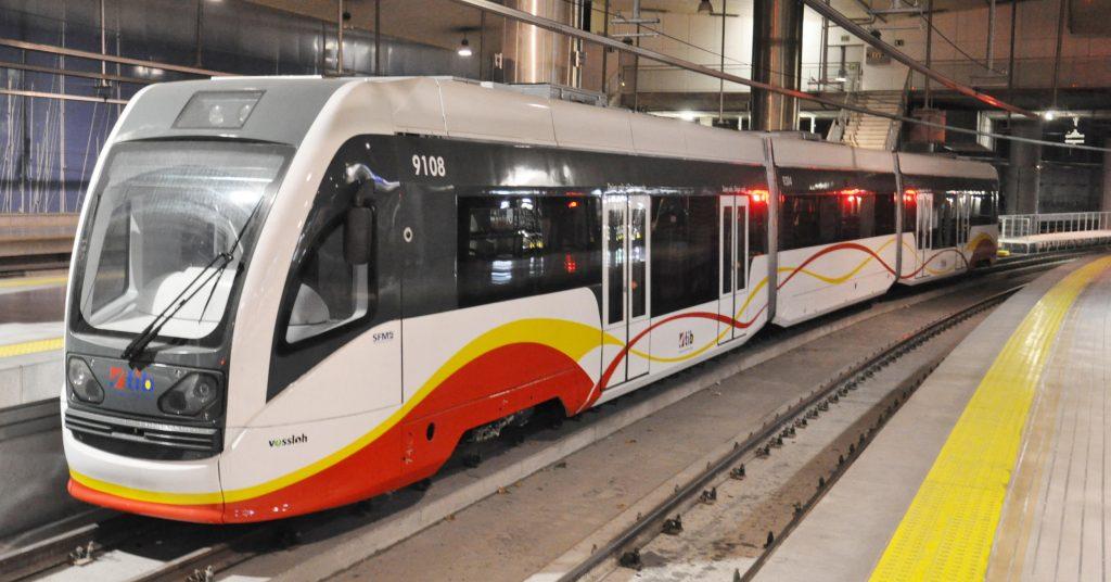 Unidad de tren-tram de SFM que podría emplearse para el tranvía de Palma al aeropuerto