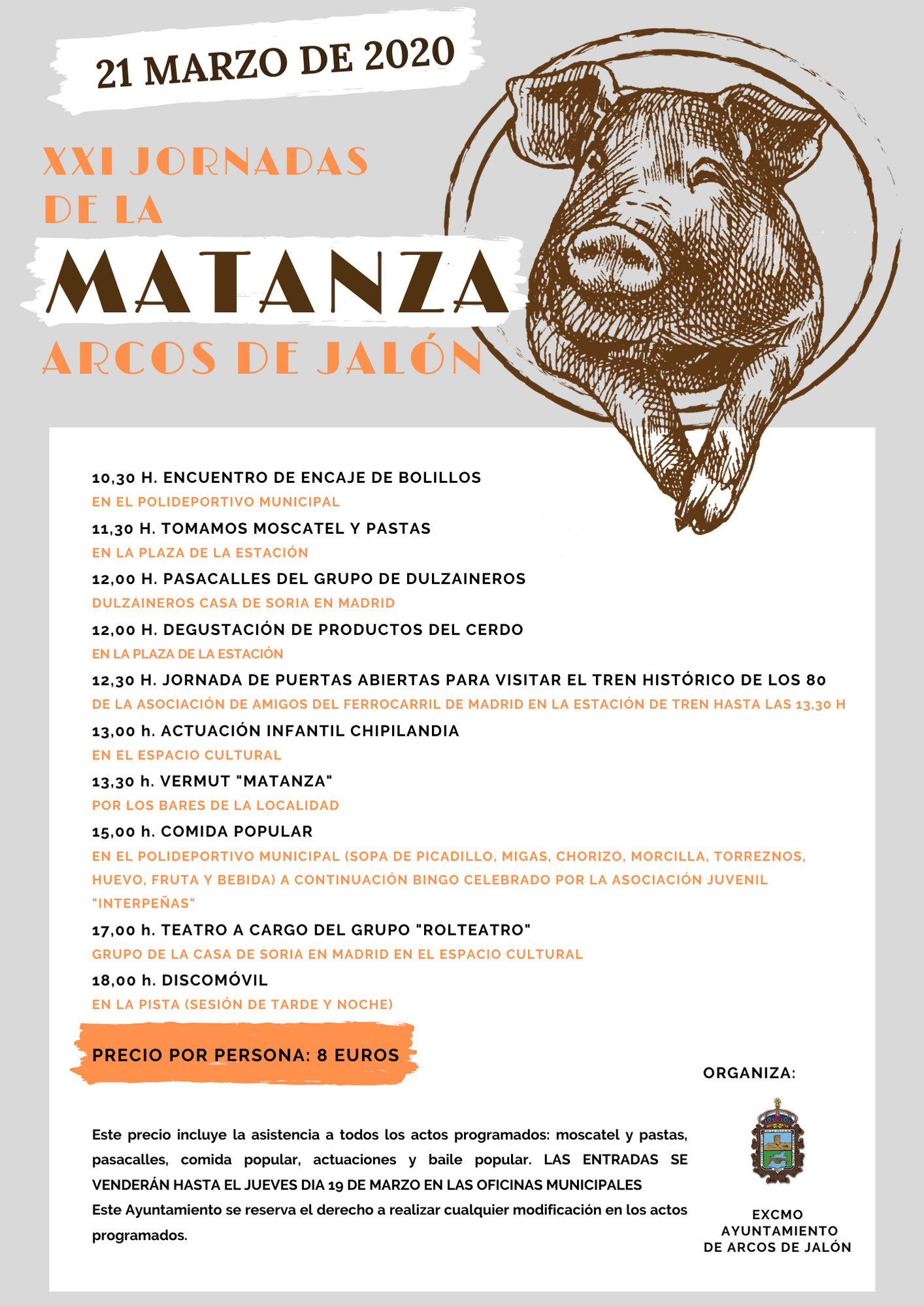 Programa de la XXI Jornada de la matanza en Arcos de Jalón