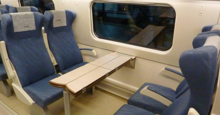 Interior de un tren Avant, en el que se implantará el billete personalizado