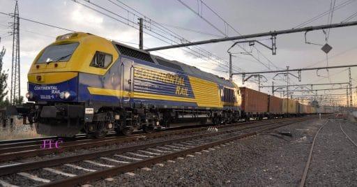 Tren de mercancías de Continental Rail en Alcázar de San Juan. Foto: JT Curses