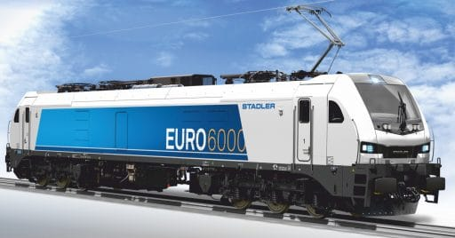 Diseño de las nuevas locomotoras de la serie Euro6000 de Vossloh como las que usará Captrain España