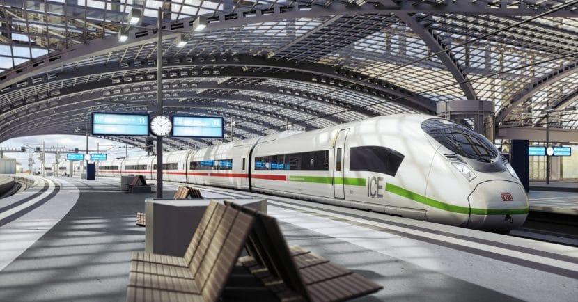 Simulación de uno de los nuevos trenes de alta velocidad de la DB. Imagen © Deutsche Bahn.