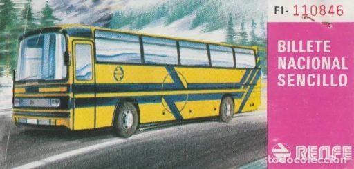Funda de un billete de Atcar, la filial de Renfe que prestaba servicios de transporte por carretera y que posteriormente se transformó en Enatcar.