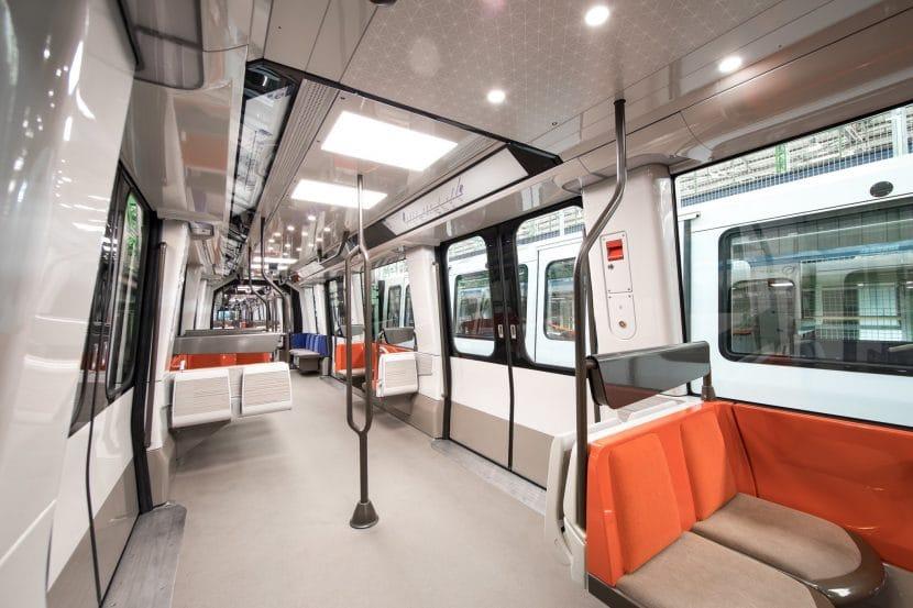 En esta foto se puede ver el acolchado de los asientos. Foto: Île-de-France Mobilités.