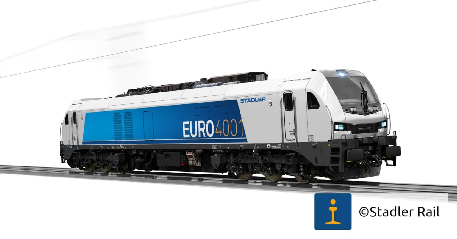 Diseño a ordenador de la familia Euro4001 de Stadler Rail Valencia