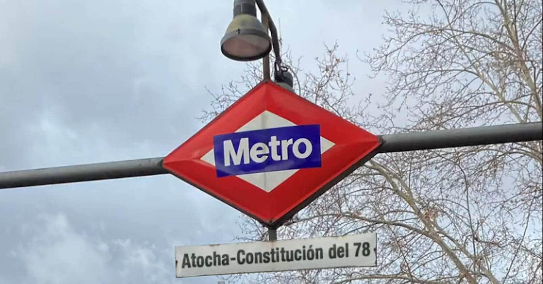 Recreación de la estación Atocha Renfe llamándose Atocha-Constitución del 78. METRO DE MADRID