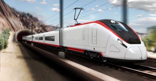 Renderizado de un tren Avril de Talgo con su diseño definitivo. TALGO