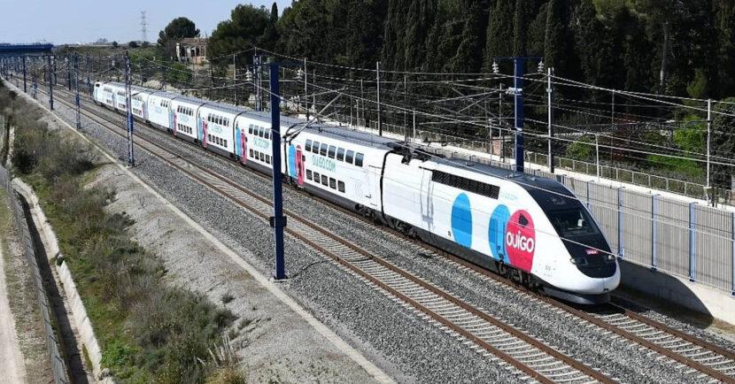 El 108-009 de Ouigo llegando a Barcelona durante su primer viaje diurno. © JORDISANTI.