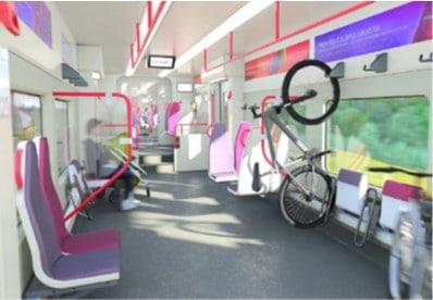 Espacio para bicicletas en los nuevos trenes de Cercanías. RENFE.