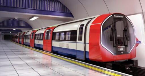 Exterior de los nuevos trenes para la línea Picadilly del metro de Londres. © Siemens Mobility