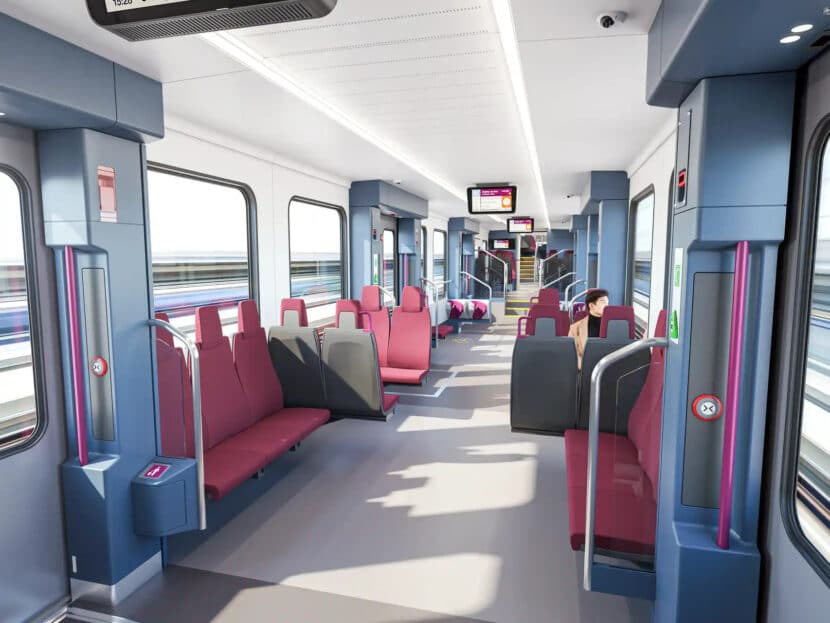Interior de los coches de un solo piso de Stadler para Renfe Cercanías. STADLER.