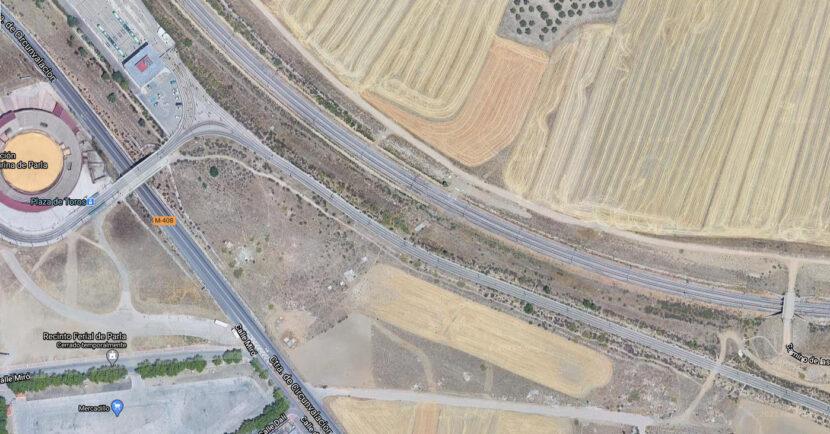 Ubicación de la futura estación de Parla Norte. GOOGLE MAPS.