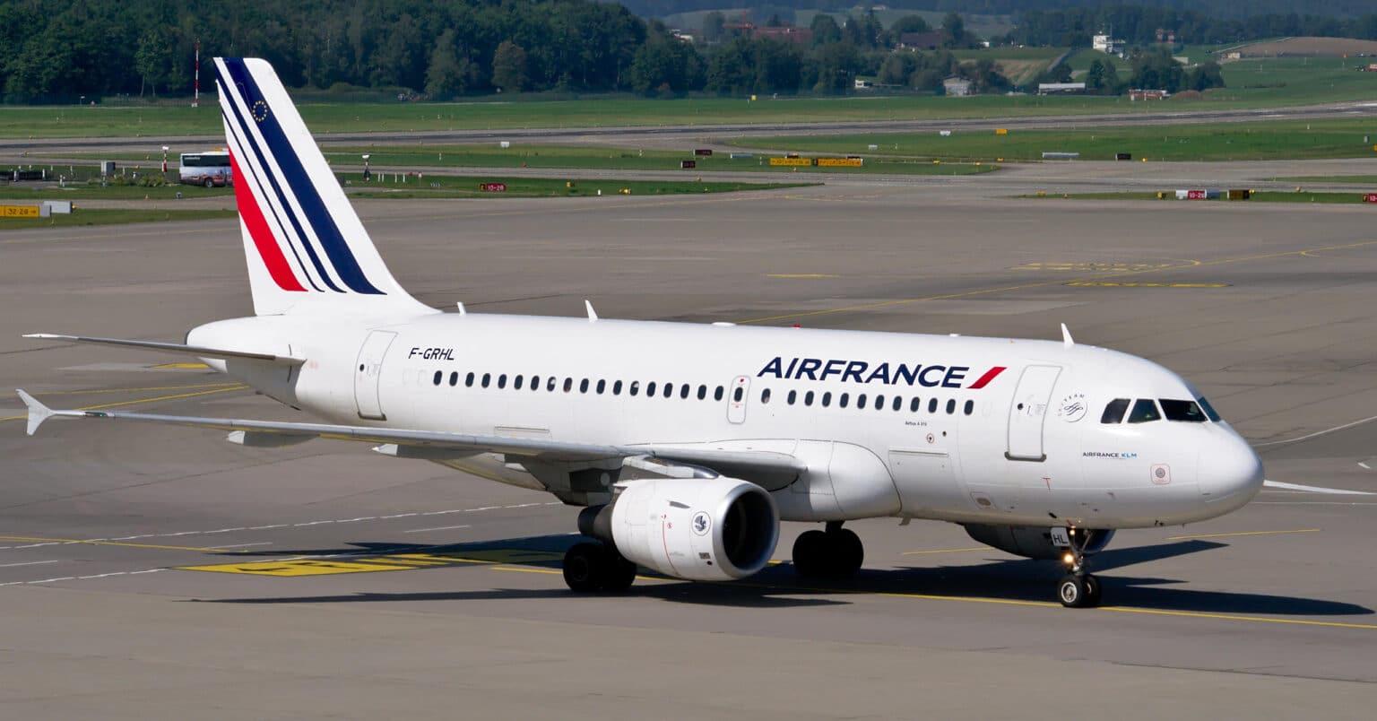 Airbus 319 de Air France, empleado para hacer vuelos domésticos en Francia