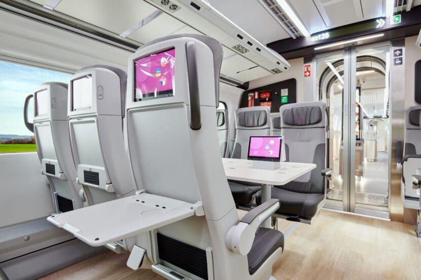 Detalle de los asientos de clase Turista del tren. © TALGO.