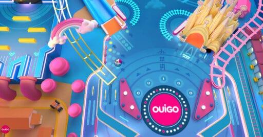 Juego pinball Let's Play de Ouigo