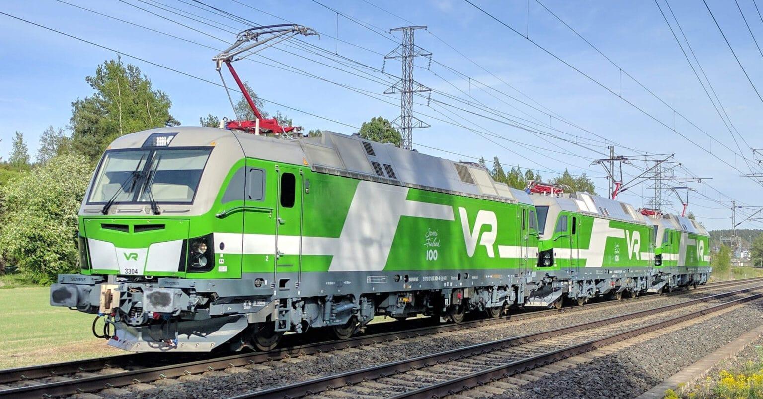 Triple composición de Siemens Vectron de la operadora finlandesa VR. PETJATO.